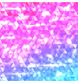 glowing rainbow geometric triangle mosaic backdrop vector image