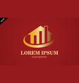 gold home business finance logo vector image