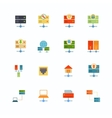 Hosting Flat Icons vector image
