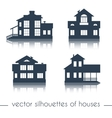 house silhouettes on white background vector image