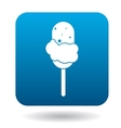 Ice cream on a stick icon simple style vector image