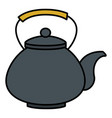 japanese teapot isolated icon vector image