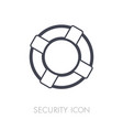 life saver outline icon susiness sign vector image