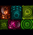 set of circles technology backgrounds vector image