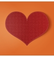 Valentines Day realistic red holiday Card vector image