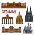 Historic buildings and sightseeings of Germany vector image
