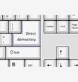 Direct democracy vector image vector image