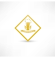 wheat beer icon vector image vector image