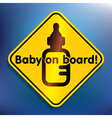 Baby on board sticker vector image vector image