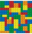 Plastic building blocks vector image vector image