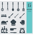 Kitchenware set icons vector image vector image