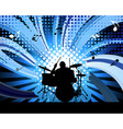 rock group drummer vector image