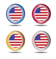 Banner flag American vector image