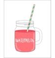 Fresh Watermelon Smoothie Healthy Food vector image vector image