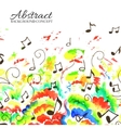 art colorful music abstract watercolor background vector image