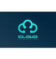 Blue cloud logo icon design vector image