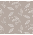 Cocoa beans outline seamless pattern Chocolate vector image