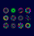 colorful festive spirals twist and swirls vector image