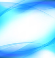 Halftone transparent blue swoosh line template vector image