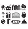 House and hotel icons vector image