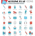 Office stationery ultra modern outline vector image