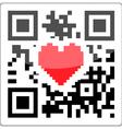 QR code heart vector image