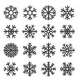 snowflake winter icons set on white background vector image