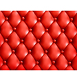 Red button-tufted leather background vector image vector image
