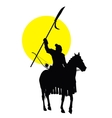 Chinese horseman vector image vector image