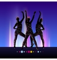 Go-Go night party background vector image vector image