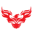 simple image phoenix vector image