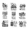 time to travel set for label design black vector image