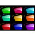 Chrome webdesign elements vector image