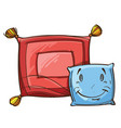 two sleeping pillows vector image