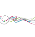 Abstract Color Lines vector image vector image