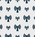 Wi-fi internet icon sign Seamless pattern with vector image