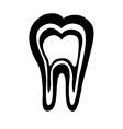 teeth care icon vector image