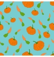 Pumpkin and carrot seamless pattern vector image