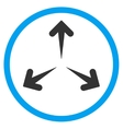 Expand Arrows Rounded Icon vector image
