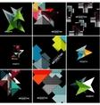 geometrical banner set vector image vector image