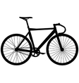 Track bicycle vector image