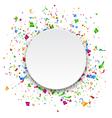 Festive Celebration Bright Confetti with Circle vector image