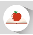 book open apple concept school graphic vector image