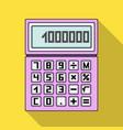 calculatorrealtor single icon in flat style vector image