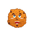 cookies happy emoji biscuit emotion merry food vector image