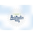 Happy Australia day design vector image