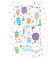 happy birthday card of vector image
