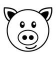 simple cartoon of a cute pig vector image