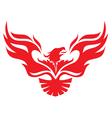 Simple image phoenix vector image