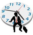 Business man wait appointment time clock vector image vector image